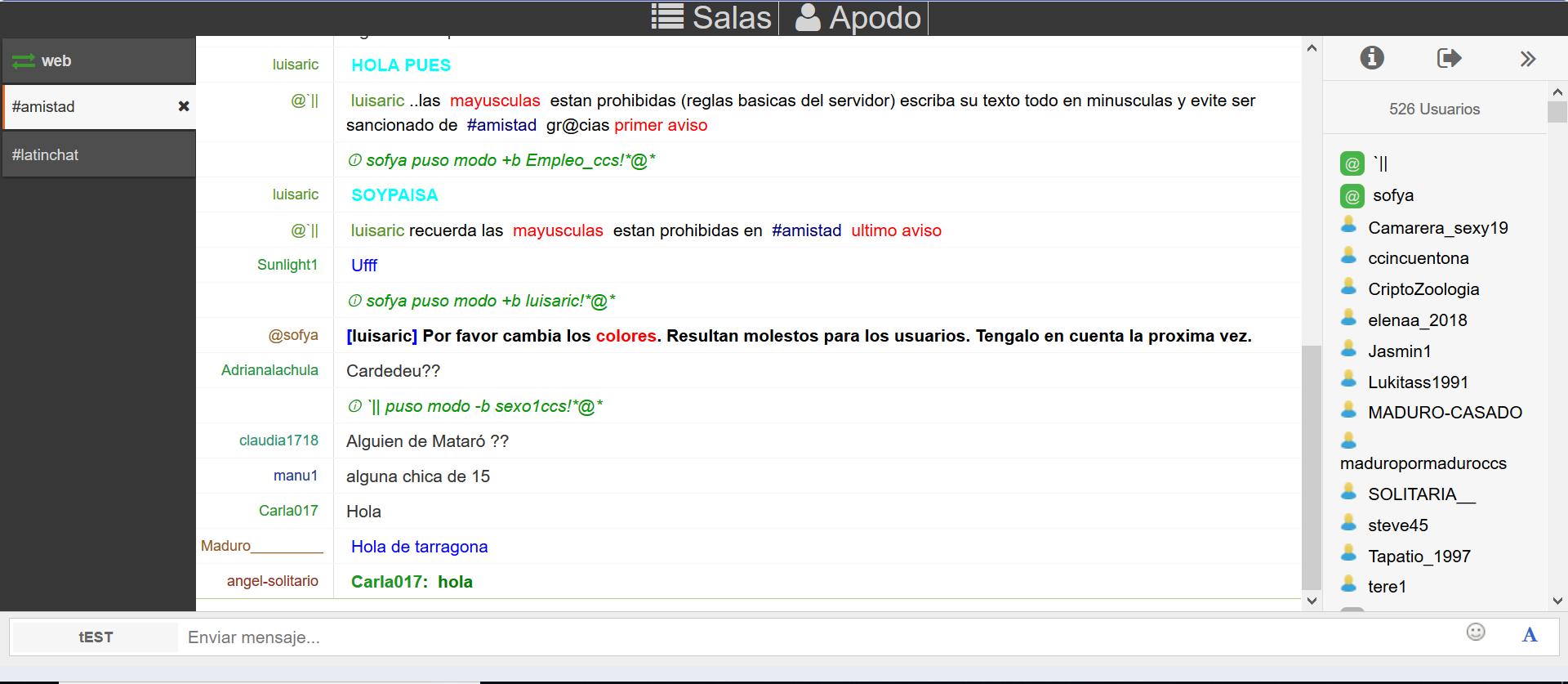 Latinchats.net: Chat de texto en español