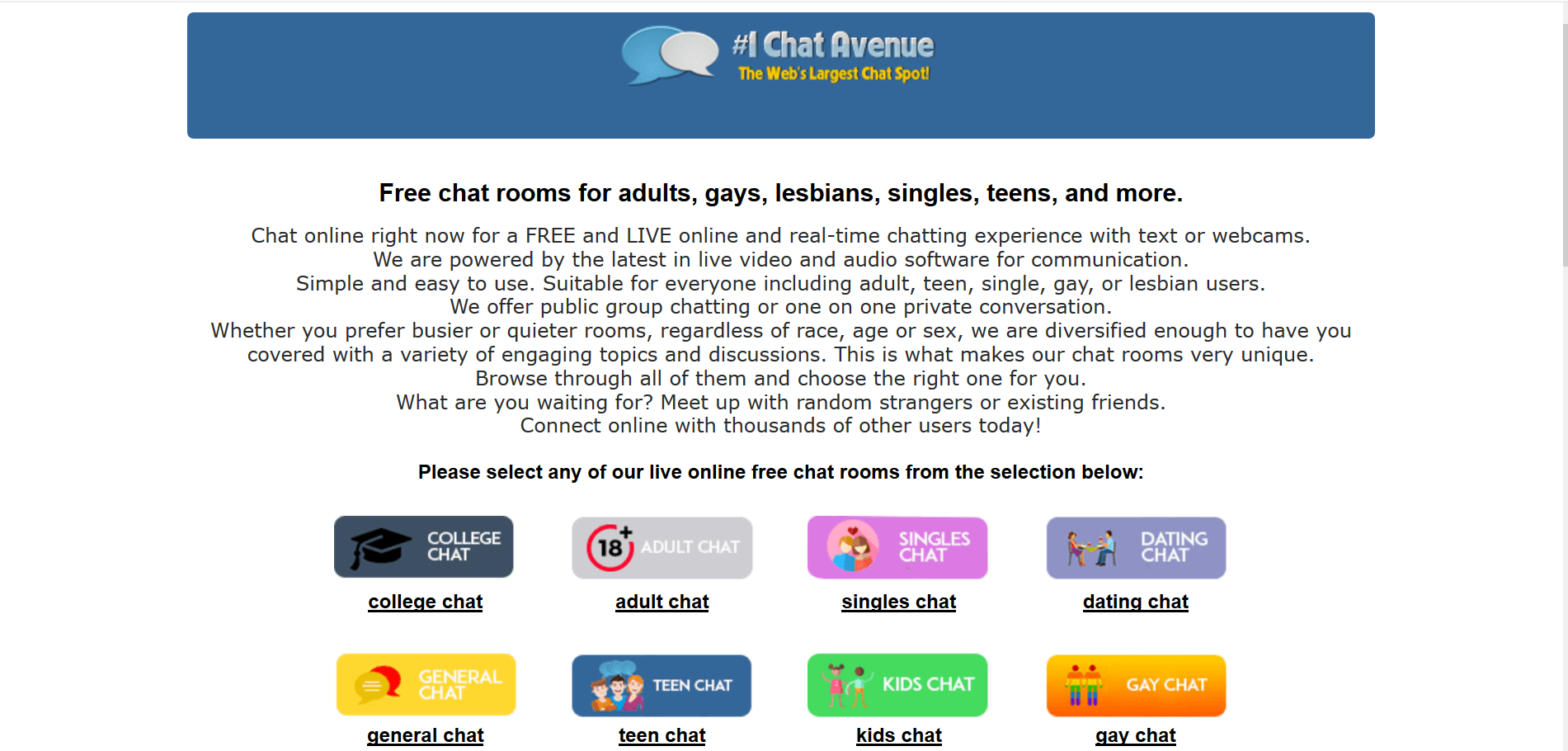 Chat-avenue: Un clásico del chat de texto, renovado