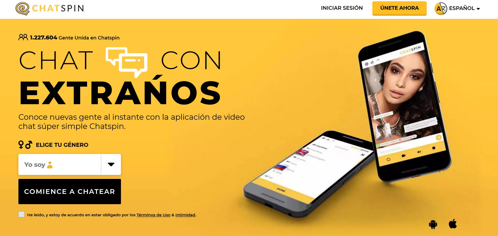 """Chatspin: La versión Android del famoso """"Shagle"""""""