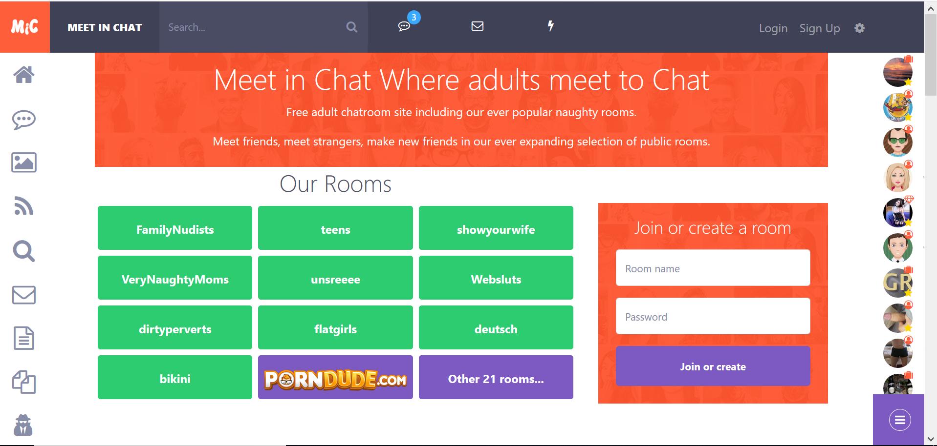 Meetinchat: Un chat que se asemeja a una red social para adultos