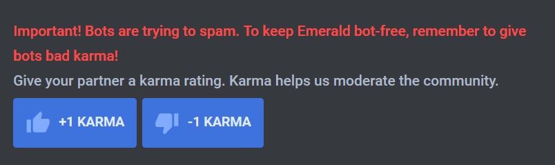Emerald karma